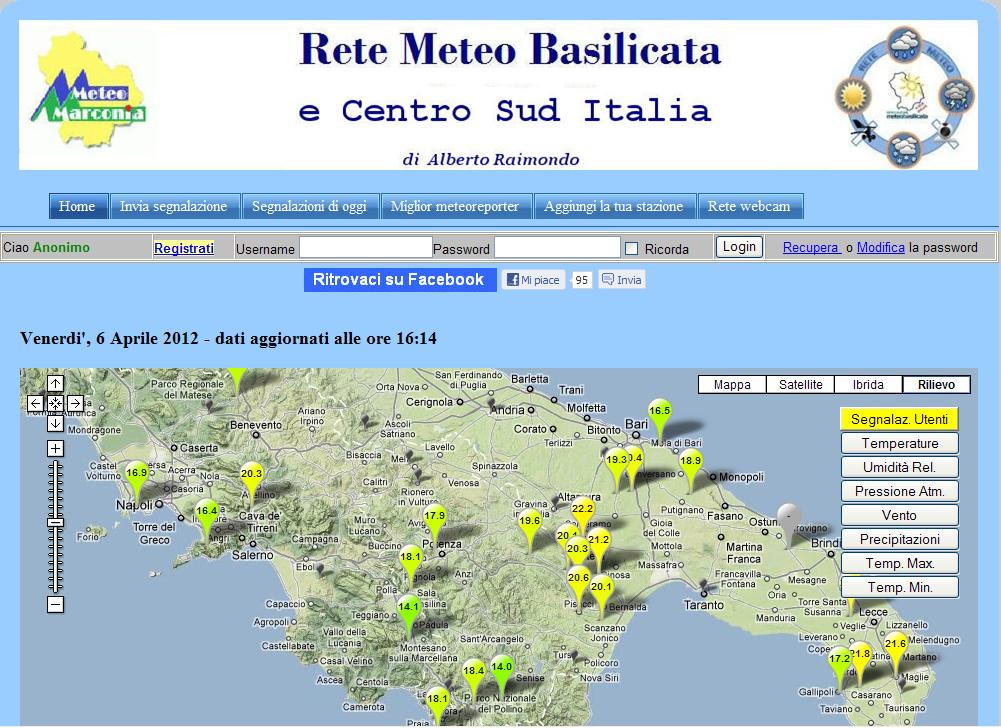 rete meteo in real time