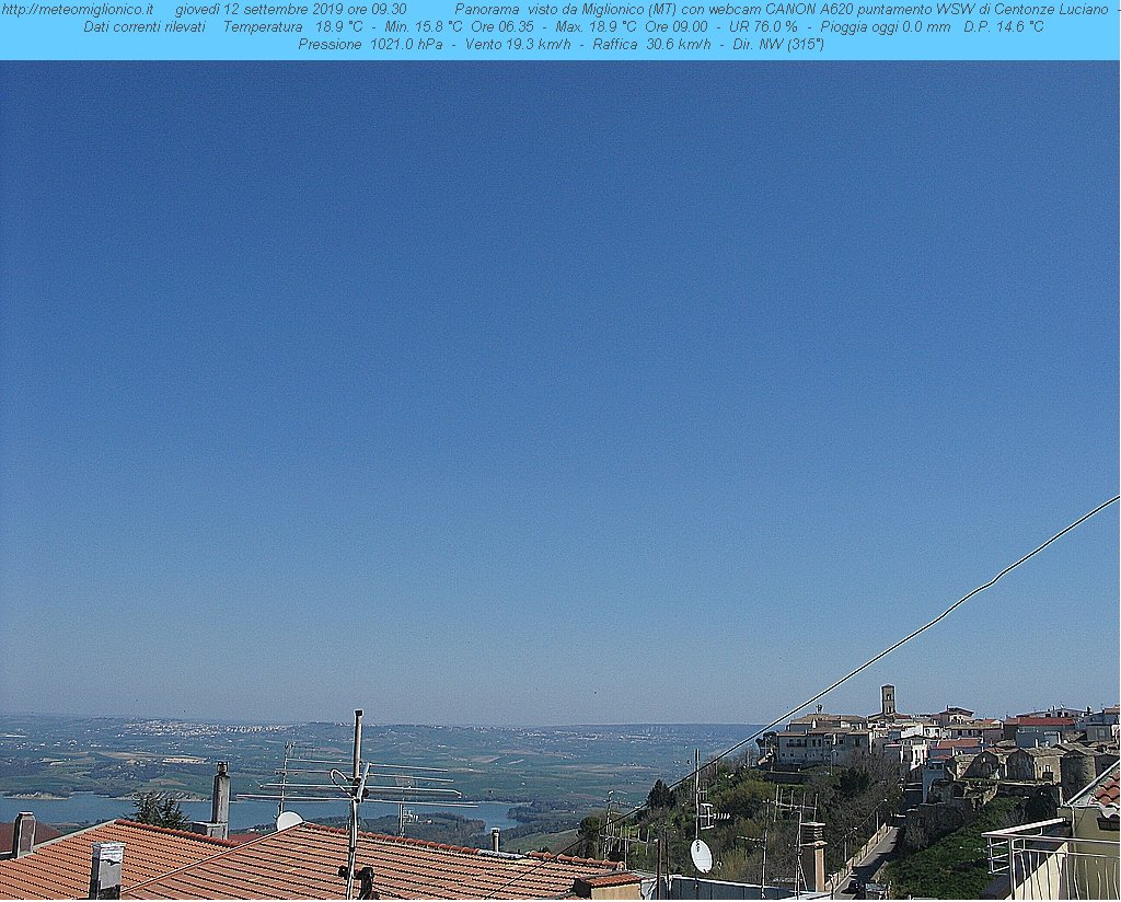 Webcam Miglionico Panoramica